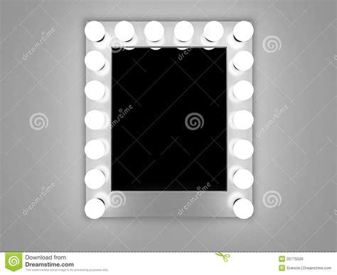 spiegel le de spiegel de make up stock illustratie afbeelding