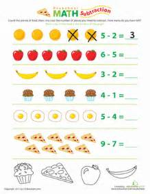 food math subtraction fun worksheet education com