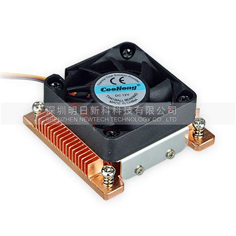 intel 775 cpu fan 100 new 1u server cpu cooler copper heatsink