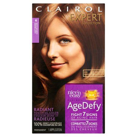 age defy hair color clairol expert collection age defy hair color 6 light