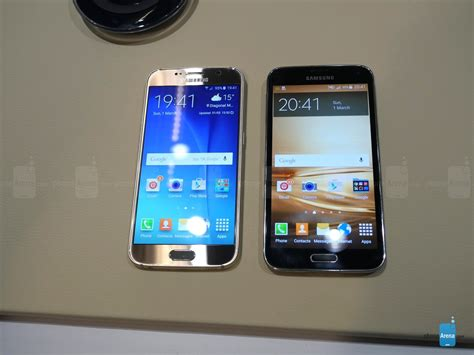 Samsung Galaxy S6 Vs S5 samsung galaxy s6 vs galaxy s5 look phonearena reviews