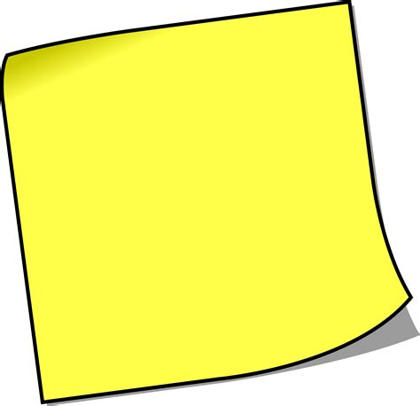 Note Pictures Clip by Sticky Notepad Clipart Clipart Suggest