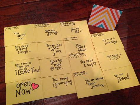 ideas for your boyfriend open when envelopes crafts diyz