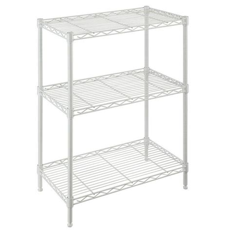 hdx wire shelving hdx 3 shelf 30 in h x 24 in w x 14 in d wire unit in white 31424wps yow the home depot