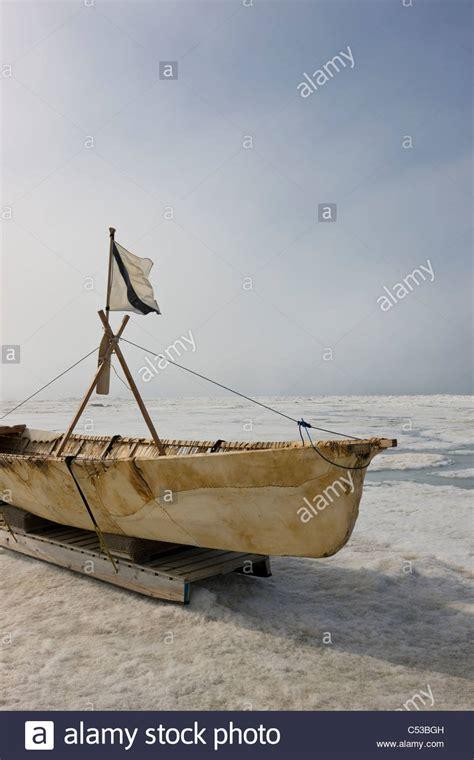 boat made of skins umiak skin boat stock photos umiak skin boat stock