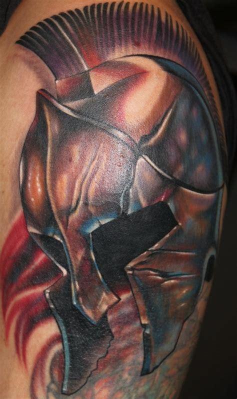 spartan helmet by tony adamson tattoonow