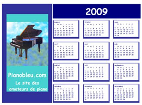 Calendrier Annee 2009 Calendriers 2009 224 Imprimer