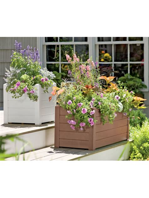 What Is Planters by Self Watering Terrazza Trough Planters Gardener S Supply