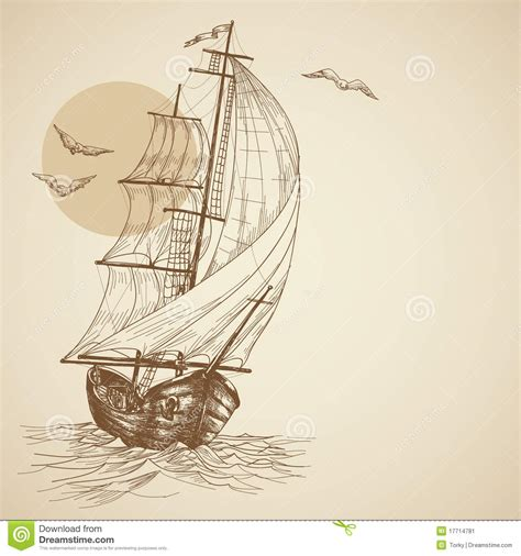sailboat retro vintage sailboat stock image image 17714781