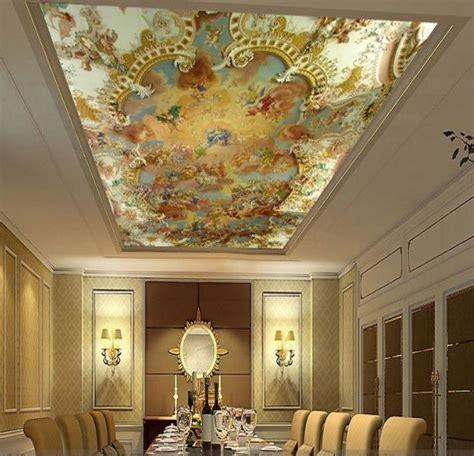 3d wallpaper mural clouds sky european greek angel