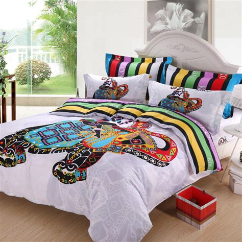 Colorful Comforters by Aliexpress Buy 3d Colorful Elephant Striped