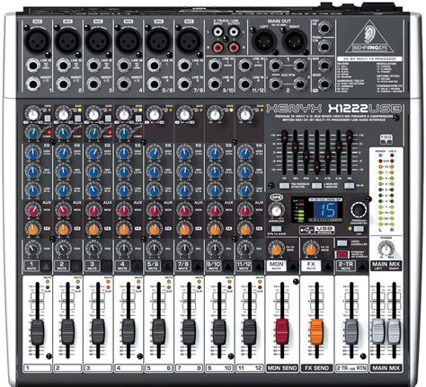 Mixer Behringer Xenyx X1222usb behringer xenyx x1222usb 16 channel mixer with usb new