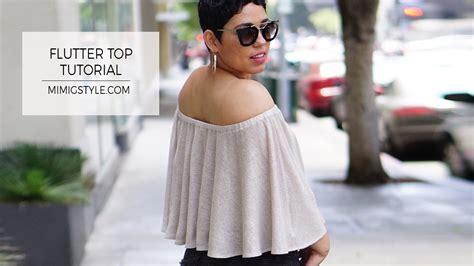 Mimi Top diy flutter top tutorial w options