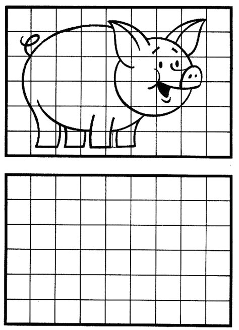 imagenes para dibujar en cuadricula copiar el dibujo observatorio infantil