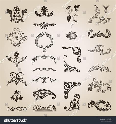 calligraphic vintage design elements vector illustration flower calligraphic vintage royal design elements stock