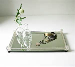 Perfume Vanity Tray Mirror And Cut Glass Vanity Tray Perfume Tray Jewelry