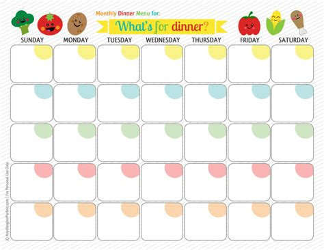 monthly dinner menu template palmer ponderings monthly meal planning
