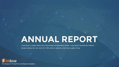 Annual Report Powerpoint And Keynote Template Slidebazaar Annual Report Powerpoint Template