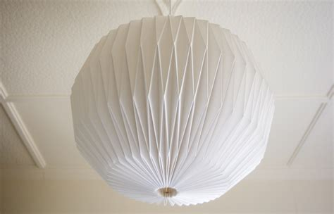 Folded Paper Light Shade - handmade folded origami light shade felt