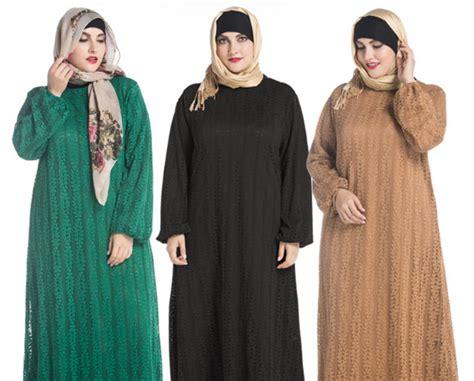 Alnita Gamis Ag 43 43 contoh baju muslim trendy untuk wanita gemuk 2018