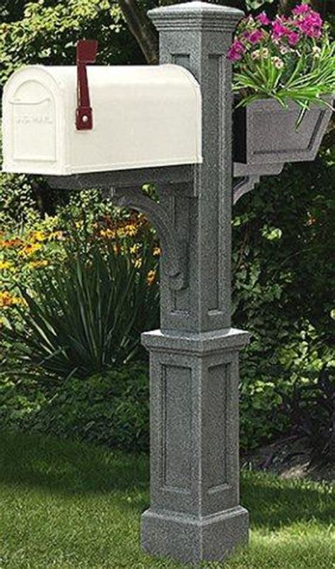 Mailbox Post With Planter by Mailbox Post With Planter
