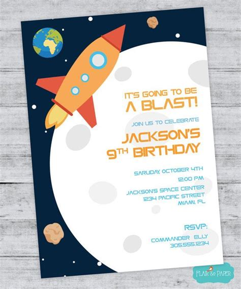 Space Baby Shower Invitations by 38 Best Space Invitation Images On Cards