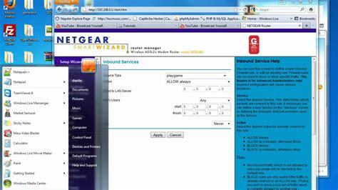 how to foward netgear forward or block ports tutorial