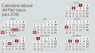 Calendario Laboral Guipuzcoa 2018 Calendario Laboral Pa 237 S Vasco Definanzas