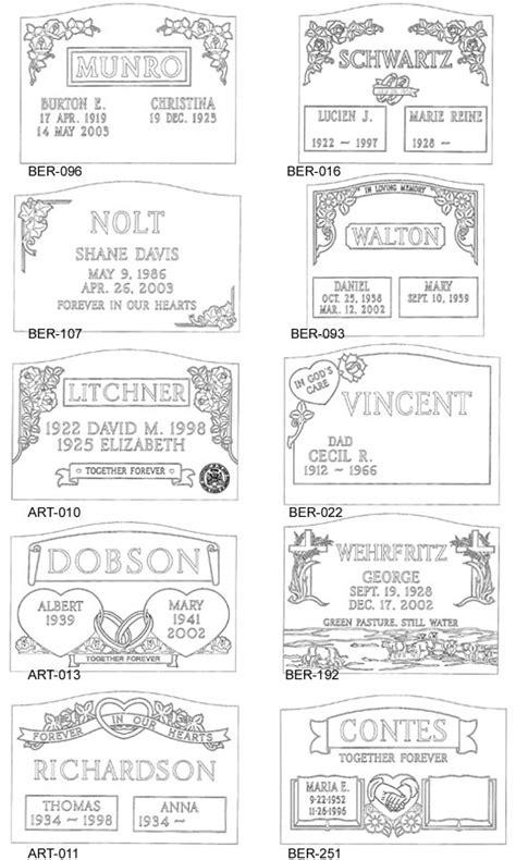 Slanted Headstone Designs For Cemetery Headstones And Memorials Headstone Design Templates
