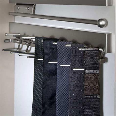 Closet Belt Rack by Deluxe Sliding Tie Rack Satin Nickel In Tie And Belt Racks