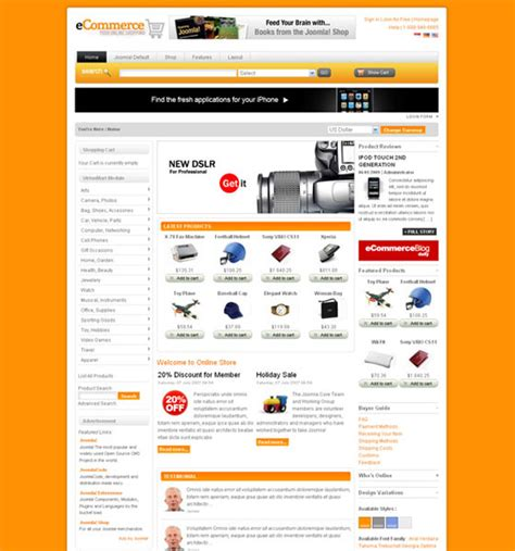 ecomerce template 20 joomla ecommerce templates web3mantra