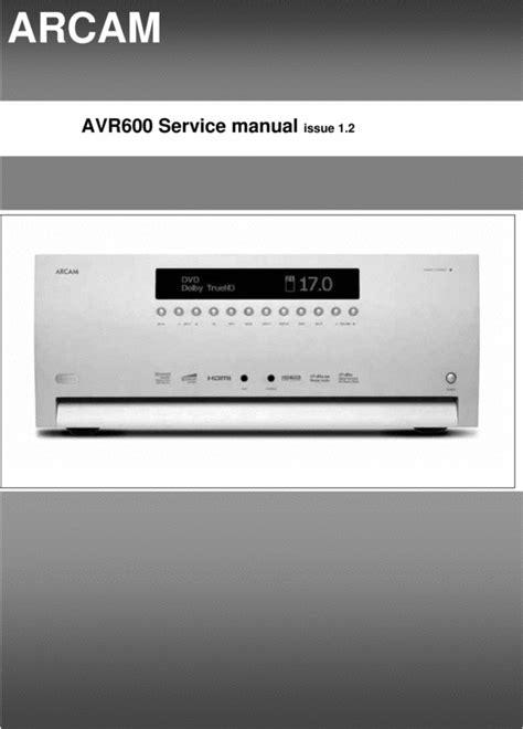 Arcam DiVA AVR-600 issue 2 , Original Service Manual