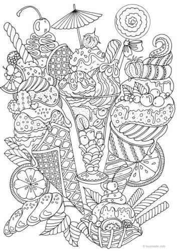 ice cream coloring pages for adults holiday freebie national ice cream month ice cream