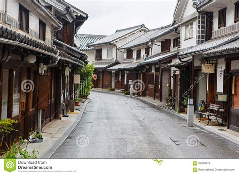 japanese town kurashiki city old japanese town in okayama stock photo