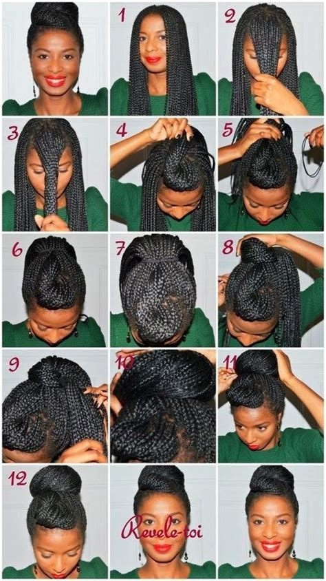 how to make a donut with block braids 21 awesome ways to style your box braids and locs