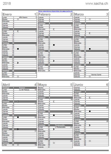 Calendario Lunar 2018 Calendario 2017 2018 2019 Para Imprimir Pdf En Espa 241 Ol