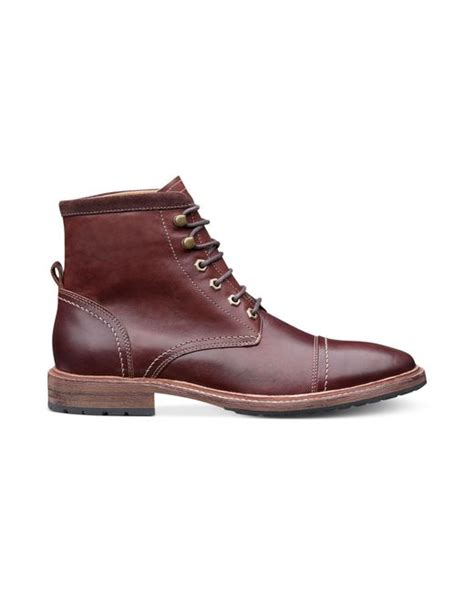 florsheim laceup cap toe boots in brown for lyst