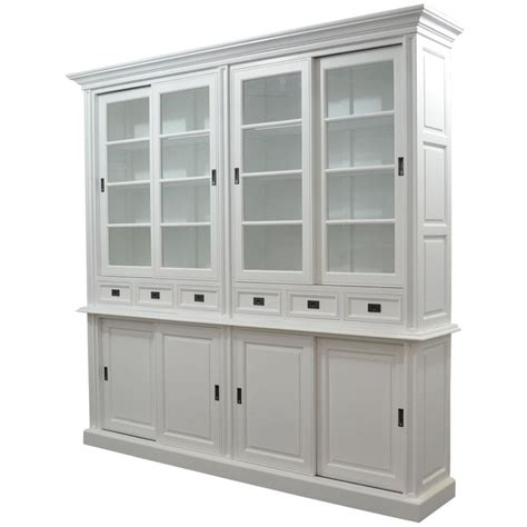 White Sliding Door Cabinet Library Bookcase Htons Style Furniture Perth Australian Owned Henry Oliver Co