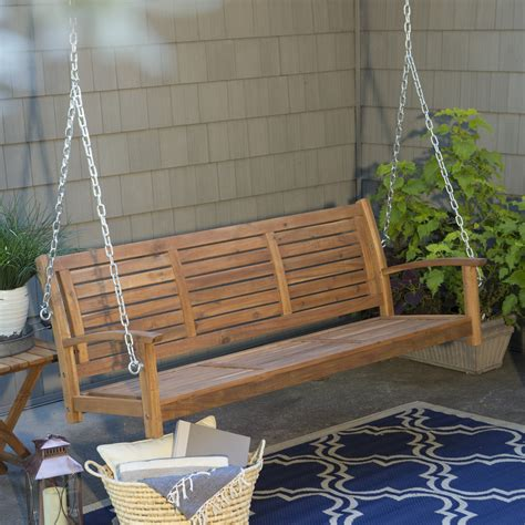 porch swing coral coast norwood 5 ft outdoor horizontal slat back