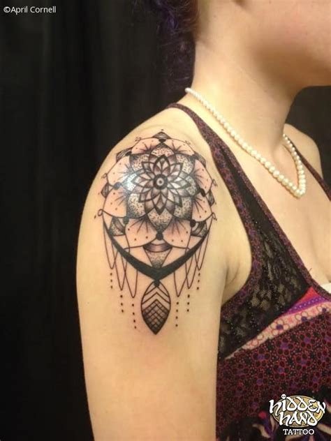 mandala shoulder cap hidden hand tattoo seattle wa