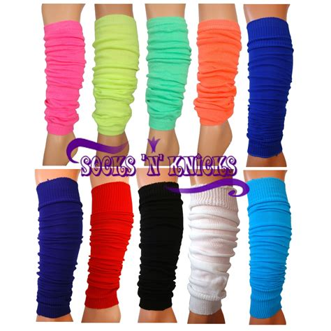 neon fashion leg warmers 1980s 80s fancy dress choose