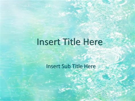 free powerpoint template water background starter chainimage