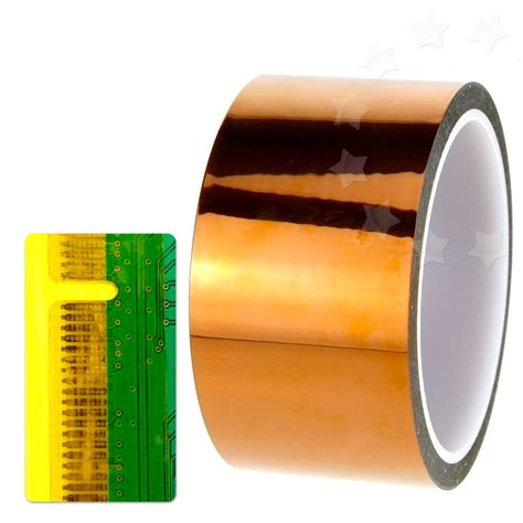 25mm Wide High Temperature Kapton Gold Color high temperature heat resistant golden polyimide kapton tape50mm x 100ft ebay