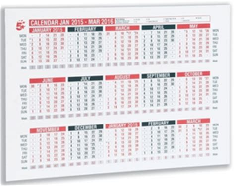 Numbers Wall Stickers 15 month office desk or wall calendar 2015