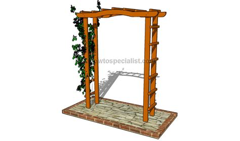 arbor building plans garden trellis designs howtospecialist how to build