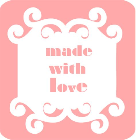 Made With Love Labels | meinlilapark free printable made with love tags