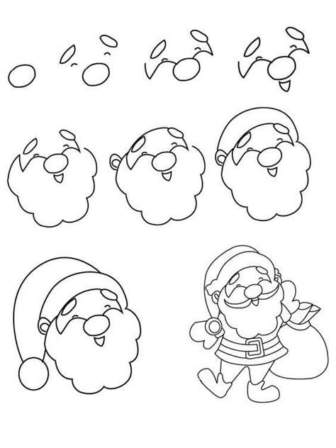 drawing step to step christmas decorations noel baba nasıl 199 izilir adım adım kolay noel baba 199 izimi