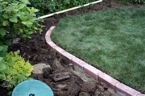 Landscaping Borders Pathways And Landscaping On Pinterest Brick Garden Edging Ideas