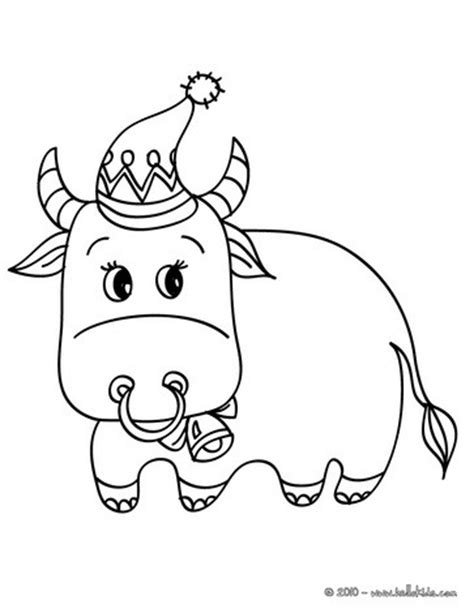 Decorated Ox Coloring Pages Hellokids Com Ox Coloring Page