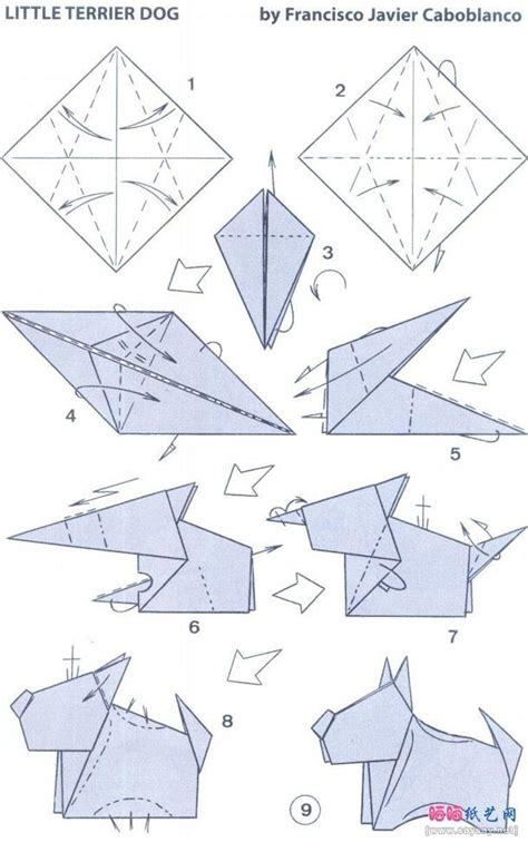 tutorial origami dog origami little terrier dog origami 101 pinterest